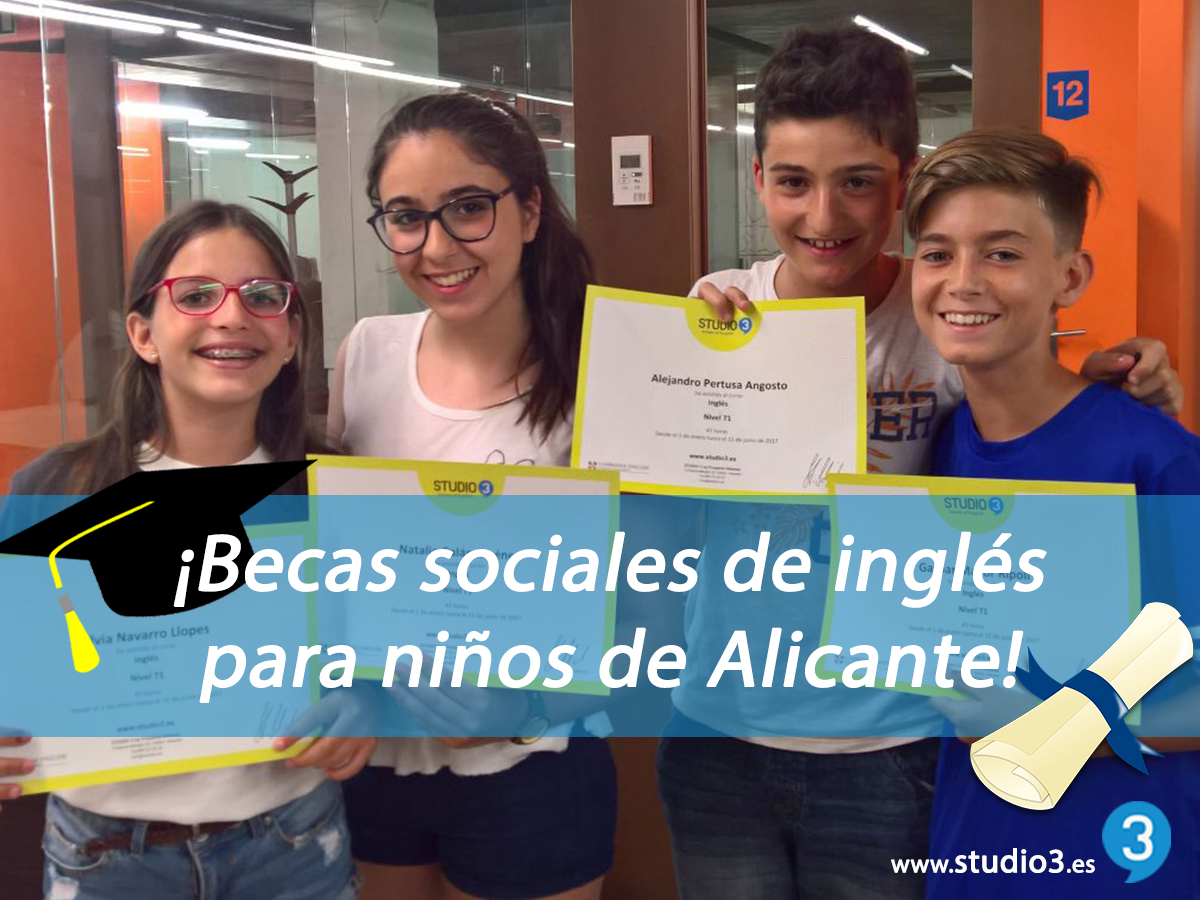 becas sociales en Studio3 Alicante