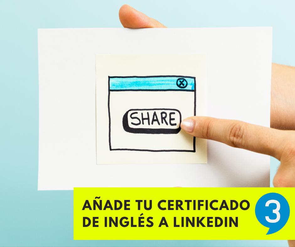 certificado ingles linkedin