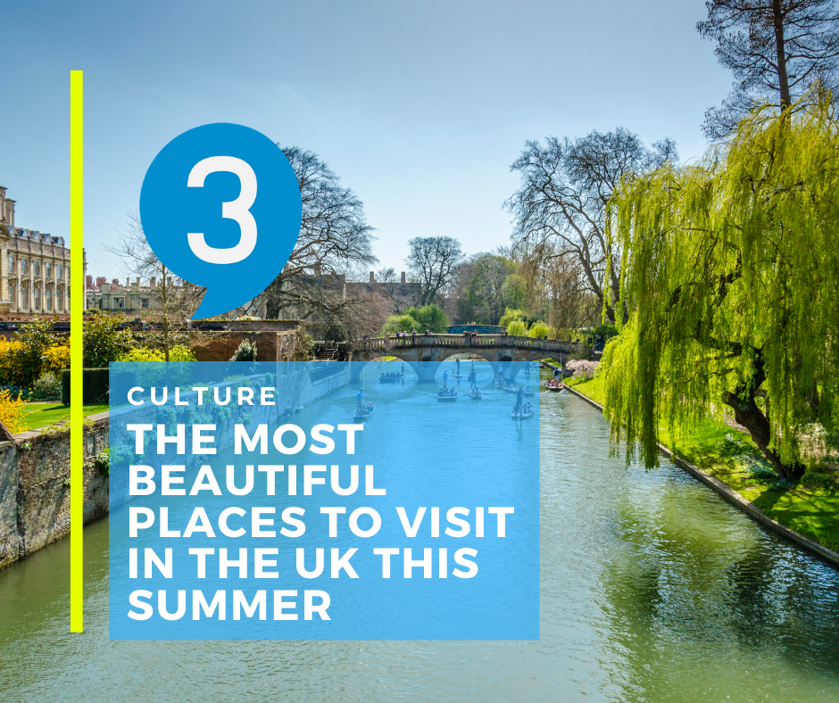 The most beautiful places to visit in the UK this summer.